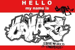 Peinture de come: hello my name is