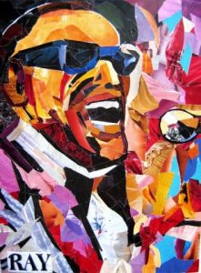 Collage de alain caffot: ray charles