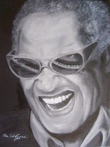 Voir cette oeuvre de Martine Calvayrac: Ray Charles