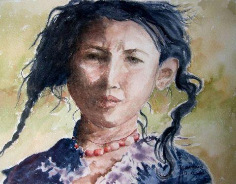 Enfant tibetaine peinture agathe bonnet for Agathe bonnet