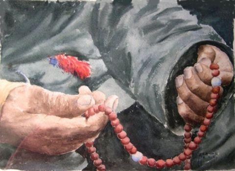 Ces mains qui prient peinture agathe bonnet for Agathe bonnet