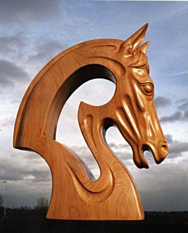 tete de cheval amazone sculpture fouesnant. Black Bedroom Furniture Sets. Home Design Ideas