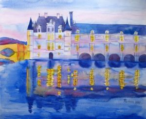 Voir cette oeuvre de Piacheva Natalia: A Castle in a Summer Evening Landscape of France