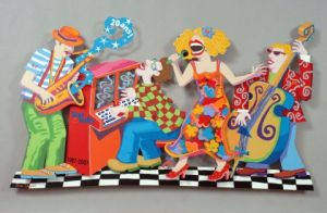 Sculpture de danshamir: ''Jazz New Orleans'' WALL SCULPTURE