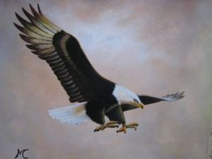 Peinture de Marie-Christine COTTAREL  : Aigle royal