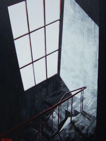 La cage d 39 escalier peinture yro for Peinture escalier v