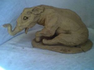 Sculpture de orla: elephant