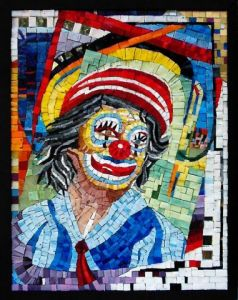 Oeuvre de richardfreymosaics: le clown triste