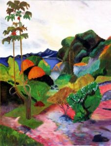 Peinture de Veronique Rond Frenot: Inspiration Paul Gauguin