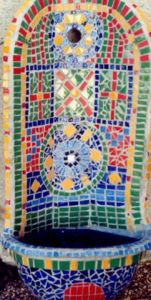 Mosaique de lunart: Fontaine mexicaine