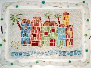 Mosaique de lunart: Village colore