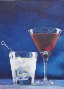 Peinture de Angela Carr: Cocktails for Two