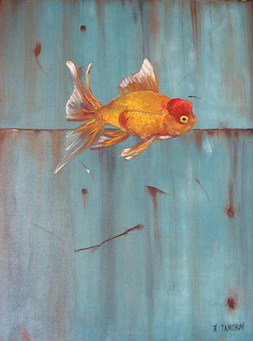 Poisson rouge peinture atanchon for Prix entree poisson rouge wintzenheim