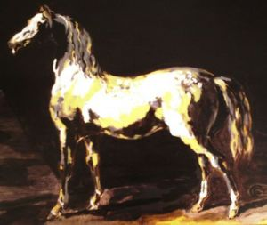 Peinture de Col2cygne: Horse at the Stable