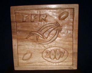 Sculpture de Sakso: France Rugby 2007