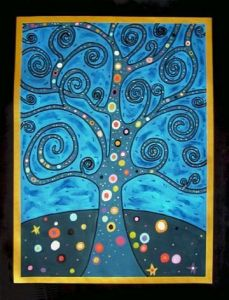 Peinture de mik-art: Tree of life