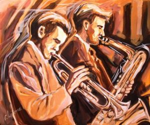 Peinture de CLAUDE LAPIERRE: Chet and Gerry