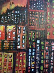 Peinture de AM: paris by night