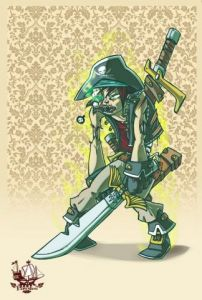 Illustration de supacat: Pirate - 8
