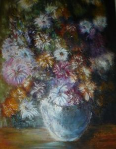 Peinture de damedulac: bouquet  d'artifice