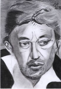 Dessin de laurent moreau: gainsbourg