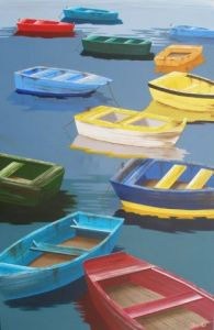 Peinture de JessC: Barques color�es