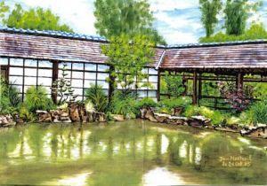 L 39 artiste domnanteuil jardin japonais de l 39 le for Le jardin japonais nantes