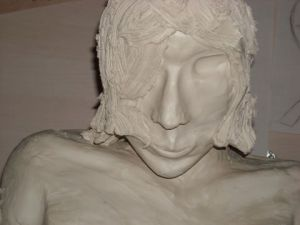 Sculpture de sandre: l'androgine