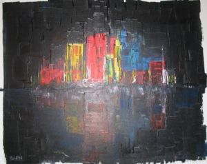 Peinture de claude: CITY BY NIGHT