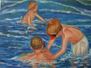 Voir cette oeuvre de Reme: playing in the sea