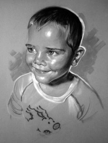 Portrait noir et blanc dessin bram for Tableau portrait noir et blanc