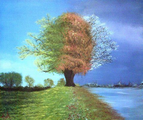 4 saisons - Peinture - thiefaine jmarc
