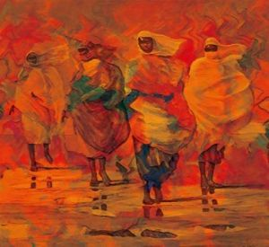 Peinture de rotman ben: women from sudan