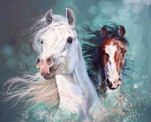 cheval arabe peinture