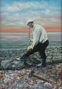 Voir cette oeuvre de Maaike Poog: My grandfather working on the Afsluitdijk