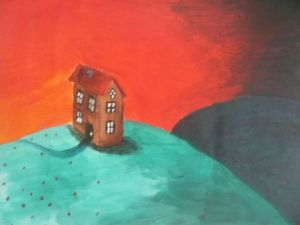 Peinture de Makrof Karima: Little Scared House