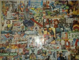 Collage de Armeline: Spiderman sur la toile