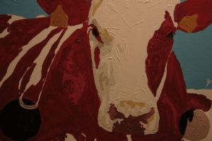 Peinture de KAHOUADJI: The cow