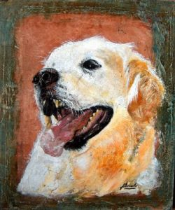 Oeuvre de Jacky DECERLE: GOLDEN RETRIEVER