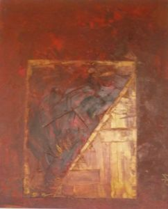 Peinture de Merzhin: Red and gold