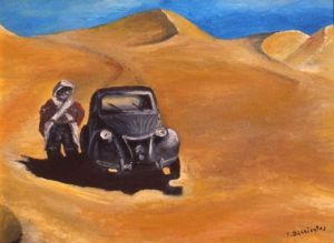 Peinture de thierry barrientos-jullian: sahara 1951