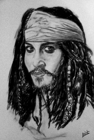 Essai portrait jack sparrow pirate des caraibes dessin - Dessin pirate des caraibes ...