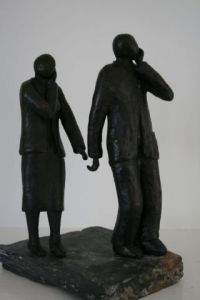 Sculpture de haza: Couple dialoguant