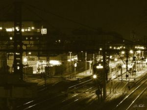 Photo de Gregory Foulon: RER de nuit