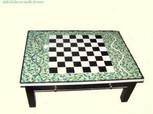 Mosaique de DELPHINE latowicki: Table d'echecs