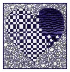 Dessin de chantalsenn : blue heart no 7'037'757