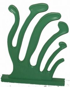 Sculpture de Eric Vogel: algue verte