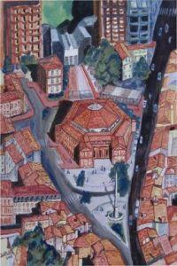 paysage toulouse : le pont neuf - Peinture - olivier laplace