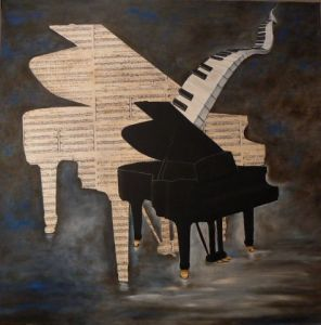 Peinture de Flo MARTIN: Bang up blues