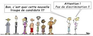 Illustration de LE GLOUBI de PADU: DISCRIMINATION A L'EMBAUCHE